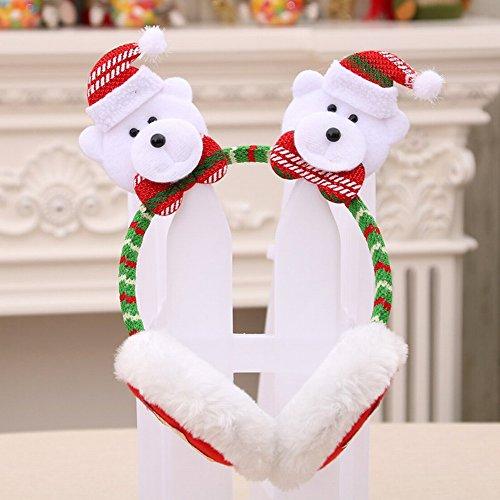 HOMEE Christmas Headband Headset Child Dress up Christmas Red Big Stupa Head Clip Hair Clip Gift Ear Set,D,14 23cm