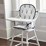 Carousel Designs Silver Gray Deer Head High Chair Pad
