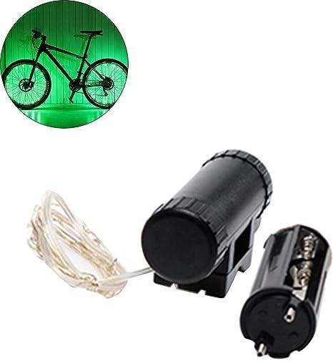 Ultrey Bicicleta Ciclismo Colorido LED Seguridad radios Rueda ...