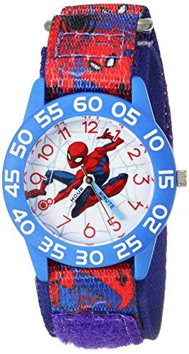 Marvel Boy's 'Spider-Man' Quartz Plastic and Nylon Casual Watch, Color:Blue (Model: WMA000191)