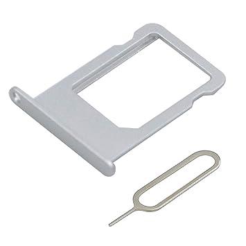 MMOBIEL Bandeja de Tarjeta SIM Ranura Compatible con iPhone 6S Plus 5.5 Inch (Plateado) Incl sim Pin