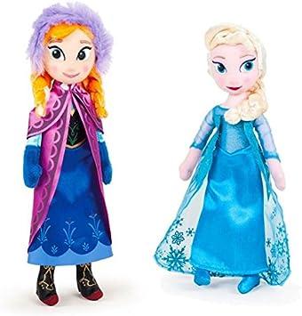 Disney Pack DE 2 Peluches Frozen - Elsa + Anna: Amazon.es ...