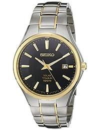 Seiko Men's SNE382 Two-Tone Titanium Watch