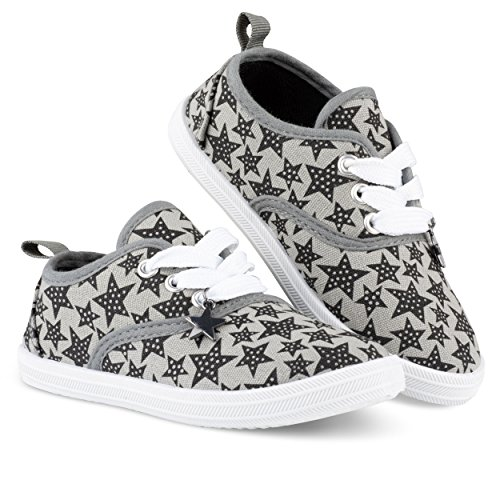- Chillipop Girls Canvas Sneakers - Casual Lace-up Shoes, Colorful Prints