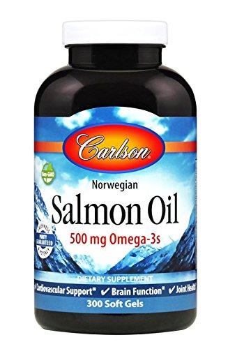 Carlson Laboratories Norwegian Salmon Oil 500 mg 300 Softgels
