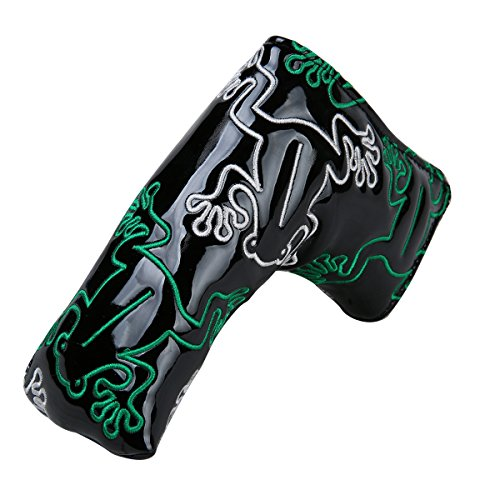 Frog Golf Putter Head Cover with Magnetic Closure Headcover for Scotty Cameron Odyssey Blade Style (Black) (Frog Golf Headcover)