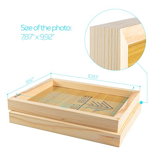 Wooden Picture frames 8x10 Inch with REAL GLASS - set of 2 - 100 ...