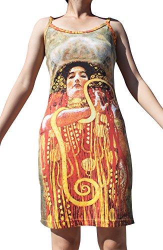 Raan Pah Muang Gustav Klimt Hygeia Spaghetti Strap Dress, X-Large