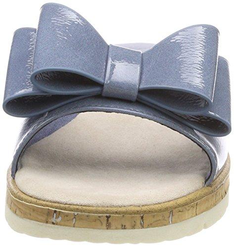 Patent Femme Marco Bleu Tozzi Mules Denim Bleu 27120 wwx7g6S