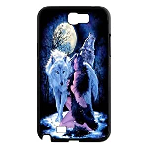 [QiongMai Phone Case] For Samsung Galaxy Note 2 Case -Wolf at Moon Night-IKAI0446932