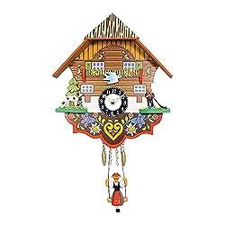 Quartz Dog and Herder Cuckoo Clock