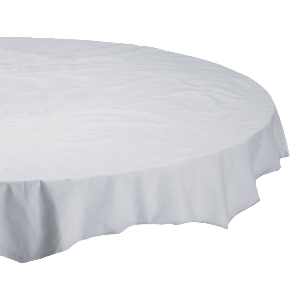 Hoffmaster 210100 Octy-Round Tissue Tablecover, 2 Ply, 72'' Diameter, White (Case of 25) by Hoffmaster (Image #1)
