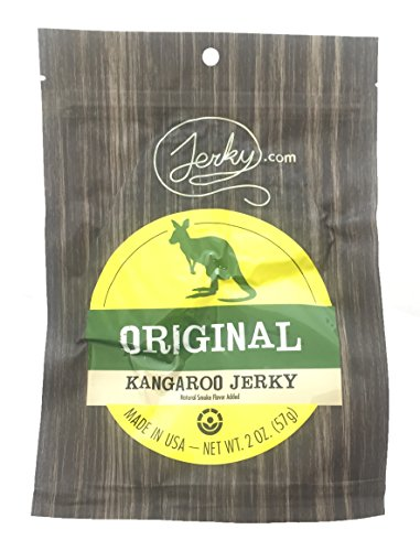Original All Natural Kangaroo Jerky - The Best Wild Game Kangaroo Jerky on the Market - 100% Whole Muscle Kangaroo - No Added Preservatives, No Added Nitrates and No Added MSG - 2 oz. bag