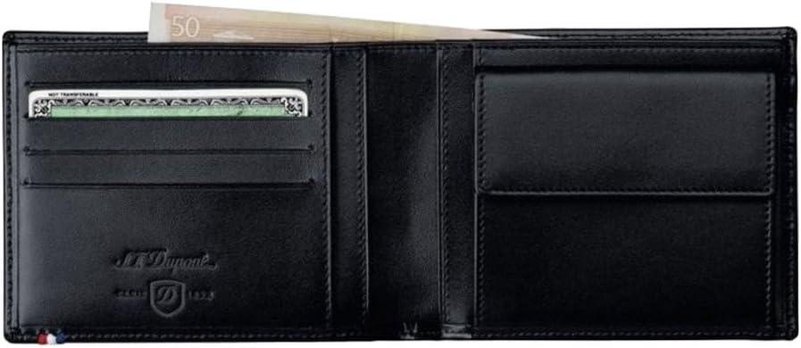 Dupont Line D Wallet 4 Cards 180007 Black Coin case Leather S.T