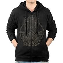 Men's Unique Henna Hamsa Hooded Sweatshirt.