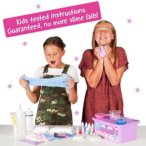 51oQ8zcoUxL - Original Stationery Unicorn Slime Kit Supplies Stuff for Girls Making Slime [Everything in One Box] Kids Can Make Unicorn, Glitter, Fluffy Cloud, Floam Putty, Pink