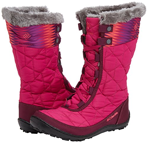 888664561286 - Columbia Youth Minx Mid WP OH Winter Boot (Little Kid/Big Kid), Deep Blush/Tropic Pink, 4 M US Big Kid carousel main 5