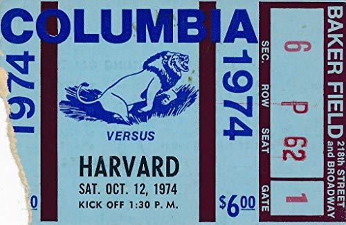 1974 Columbia vs. Harvard Football Game Ticket Stub 144060