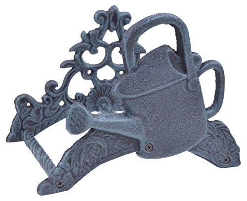 "Import Wholesales Garden Water Hose Holder Watering Can Verdigris Cast Iron 9.75"" Wide"