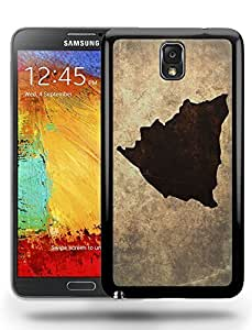 Nicaragua National Vintage Country Landscape Atlas Map Phone Case Cover Designs for Samsung Galaxy Note 3 Kimberly Kurzendoerfer