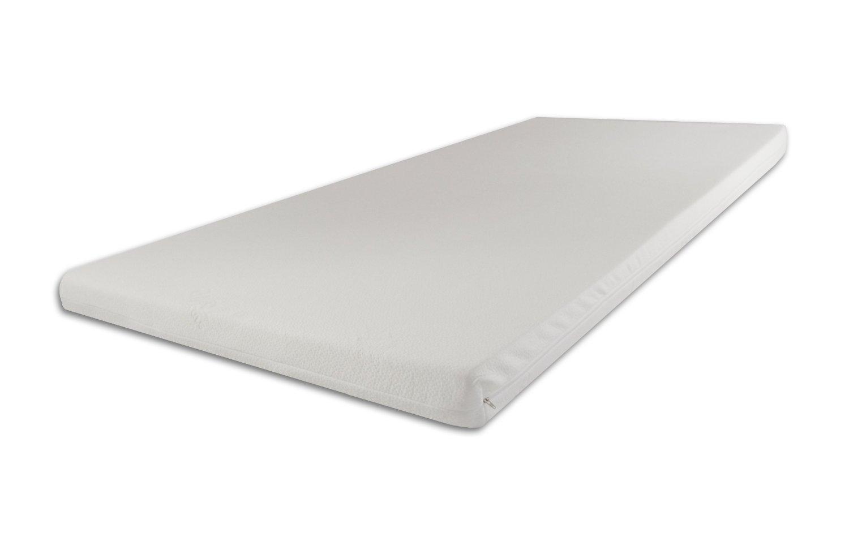 Viscoelastische Matratzenauflage 200 x 180 x 9cm H3 fest mit Bezug Ideal