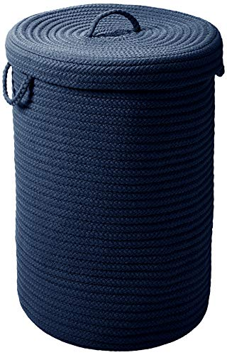 Colonial Mills Simply Home Hamper w/lid - Navy 16