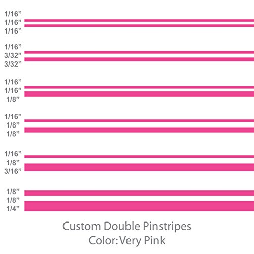 Double Pinstripes (Bright Pink) 1/8