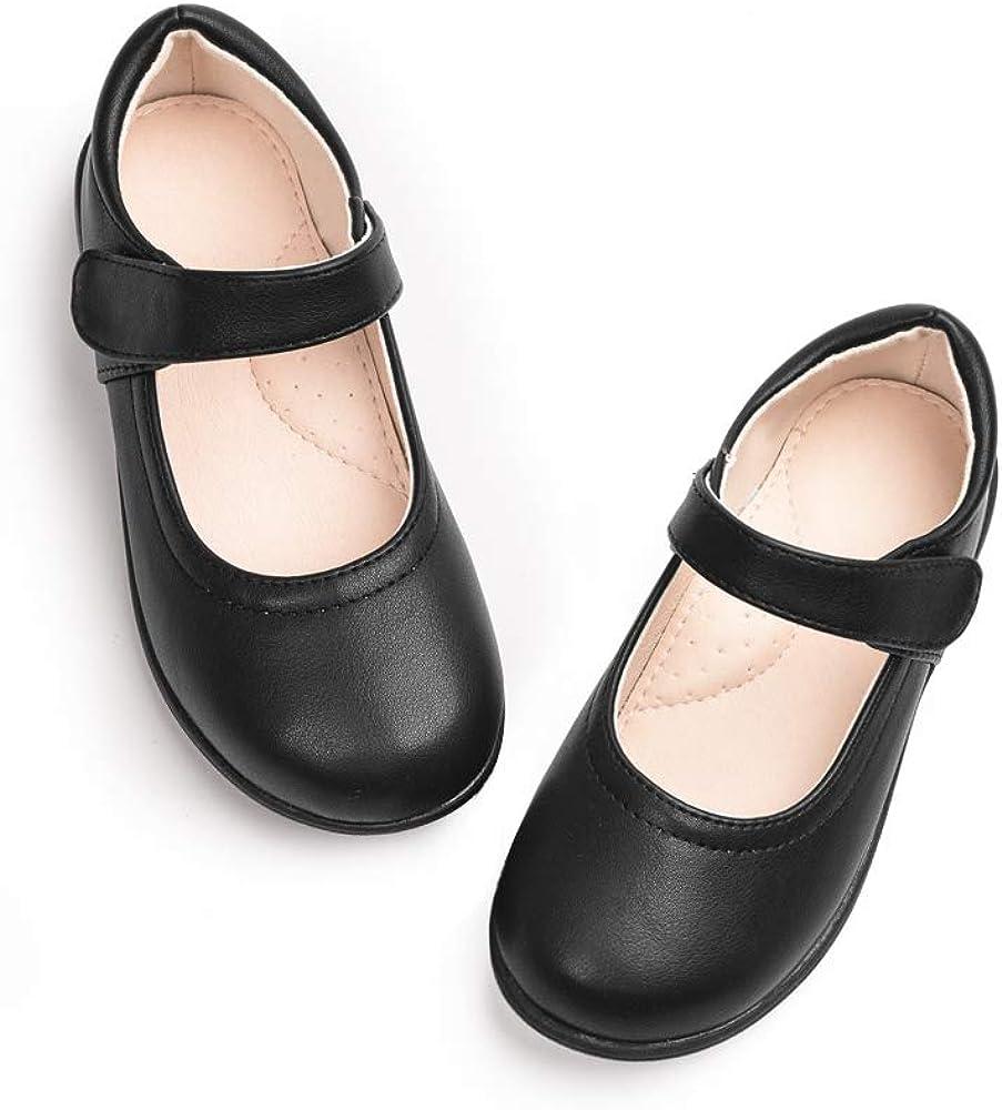 Kids Girls Casual Mary Jane Student School Flats Shoes Princess Dress Flower New