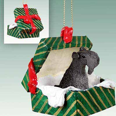 Conversation Concepts Kerry Blue Terrier Gift Box Green Ornament