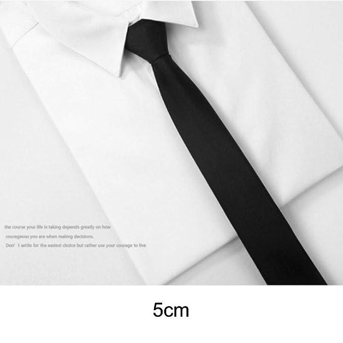 Yongyong Línea Delgada Negra Corbata De Hombre De Gama Alta ...