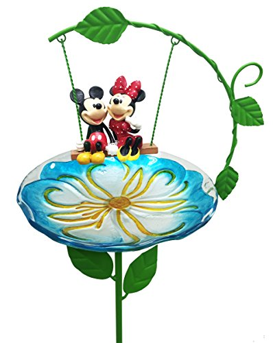 Design International Group Disney Mickey & Minnie, Birdbath Stake (Disney Birdbath)