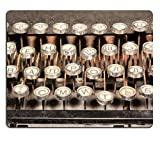 MSD Natural Rubber Gaming Mousepad Old dirty rusty vintage typewriter keyboard with Russian alphabet IMAGE 30562597