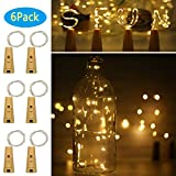 exterior paint color ideas Wine Bottle Lights with Cork, 6 Pack Battery Operated 10 LED Silver Copper Wire Fairy String Lights for DIY, Party, Decor, Christmas, Halloween,Wedding (Warm White, General Version)