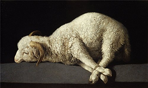 The Perfect Effect Canvas Of Oil Painting 'Zurbar Agnus Dei (The Lamb Of God) 1635 40 ' ,size: 18 X 30 Inch / 46 X 77 Cm ,this Cheap But High Quality Art Decorative Art Decorative Canvas Prints Is Fit For Dining Room Artwork And Home Artwork And Gifts