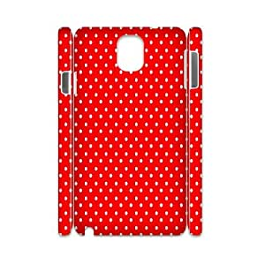 Qxhu Polka Dot Red and White Hard Plastic Back Protective case for Samsung galaxy Note3 N9000 3D case