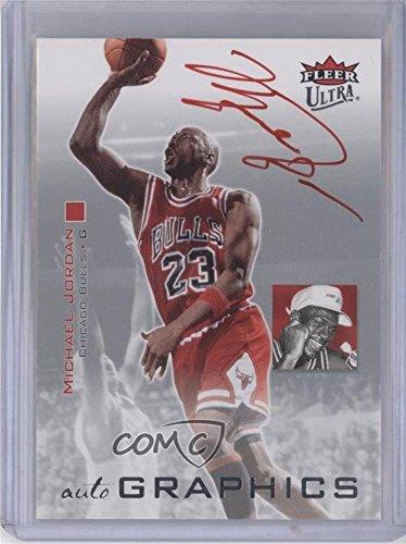 Michael Jordan (Basketball Card) 2007-08 Fleer Ultra - Autographics - Red Ink #AU-MJ