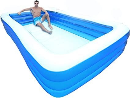 Nufr Inflatable Swimming Pools Inflatable Kiddie Pools Family Swimming Pool Summer Water Party For Kids Adults Toddlers Outdoor Garden Backyard 4 2m 157x71x22 In Garden Outdoor