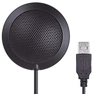 usb conference microphone 10ft omnidirectional condenser microphone plug and play pc. Black Bedroom Furniture Sets. Home Design Ideas