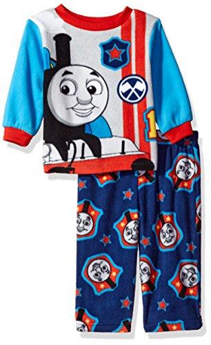 Nickelodeon Baby Boys' Thomas The Train 2-Piece Pajama Set, Railroad Blues, (Kid 2 Piece Pjs)