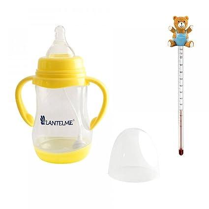 Lantelme 5633 Baby Botella y biberones Termómetro oso de peluche azul, vidrio/plástico