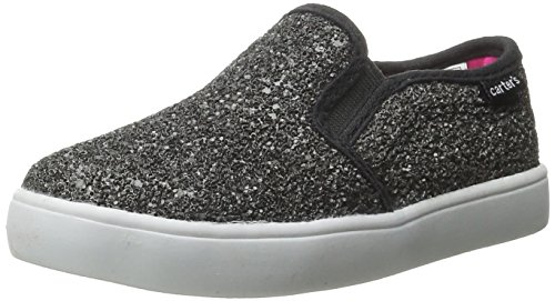 carter's Girls' Tween Slip On, Black, 7 M US Toddler