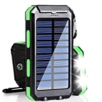 Solar Charger, 20000mAh Solar Power Bank...