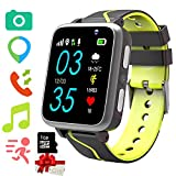 Kids Smartwatch with MP3 Music Player - Children musical Watch + [1GB Micro SD Included] FM Pedometer Camera FM SOS Alarm Clock Flashlight for Boys Girls Back to School Students Gifts (G612 Black)