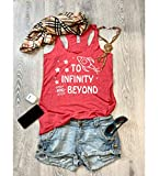 Large/Vintage Red/Disney Tank/Infinity And Beyond/Toy Story/Women's Eco Tri-Blend Tanks/Women Clothing/Disney Tank Top/Disney Gift Triblend Tank/Gift Shirt/Free Shipping/
