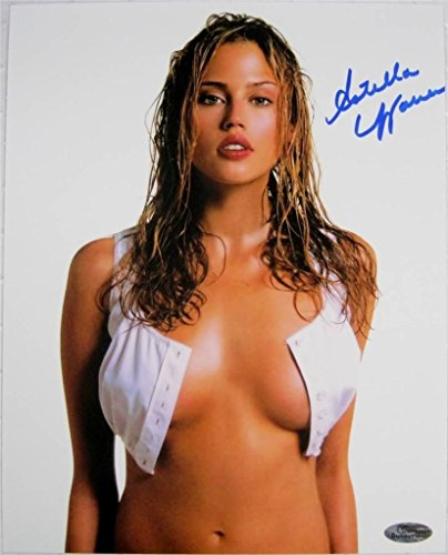 (Estella Warren Signed 8x10 Photo Victoria Secret Model Beauty & The Beast K)