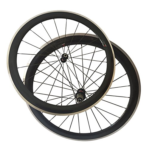 (LOLTRA 700C Carbon Road Bicycle Wheelset 50 Clincher Alloy Brake Surface Bike Wheels (mac aero 494, 23mm))