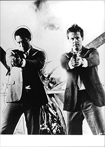 Vintage photo of Bill Cosby and Robert Culp in