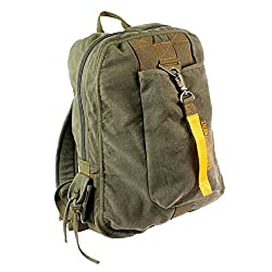 Olive Drab Vintage Canvas Flight Bag
