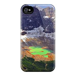 Mwaerke Case Cover Protector Specially Made For Iphone 4/4s Beautiful Glacier Lake