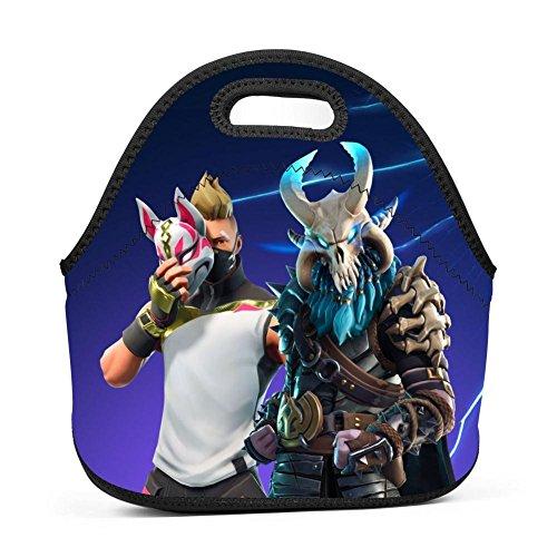 Alxosla Fortnite Drift Mask Neoprene Lunch Tote Bag